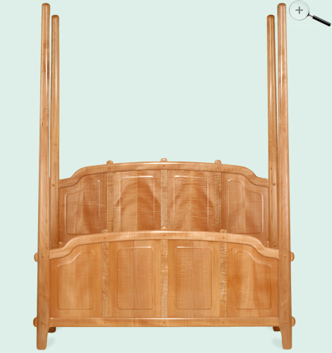 curly maple queen canopy bed