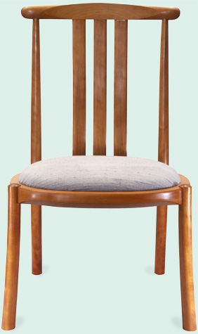 cherry simple saturn dining chair