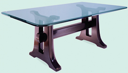Black Trestle Table
