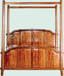 Wood king size canopy bed frame in Beds - Compare Prices, Read