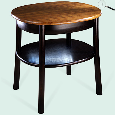 ebonized oval side table