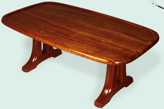 Jeffrey Dale Designer Tables Koa Open Trestle Coffee Table
