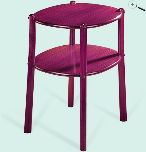 Jeffrey Dale Designer Tables Purple Heart Table