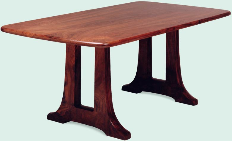 open trestle dining table